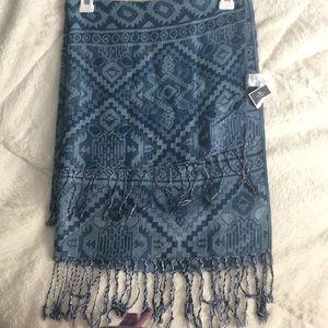 West Loop blue Women's scarf NWT